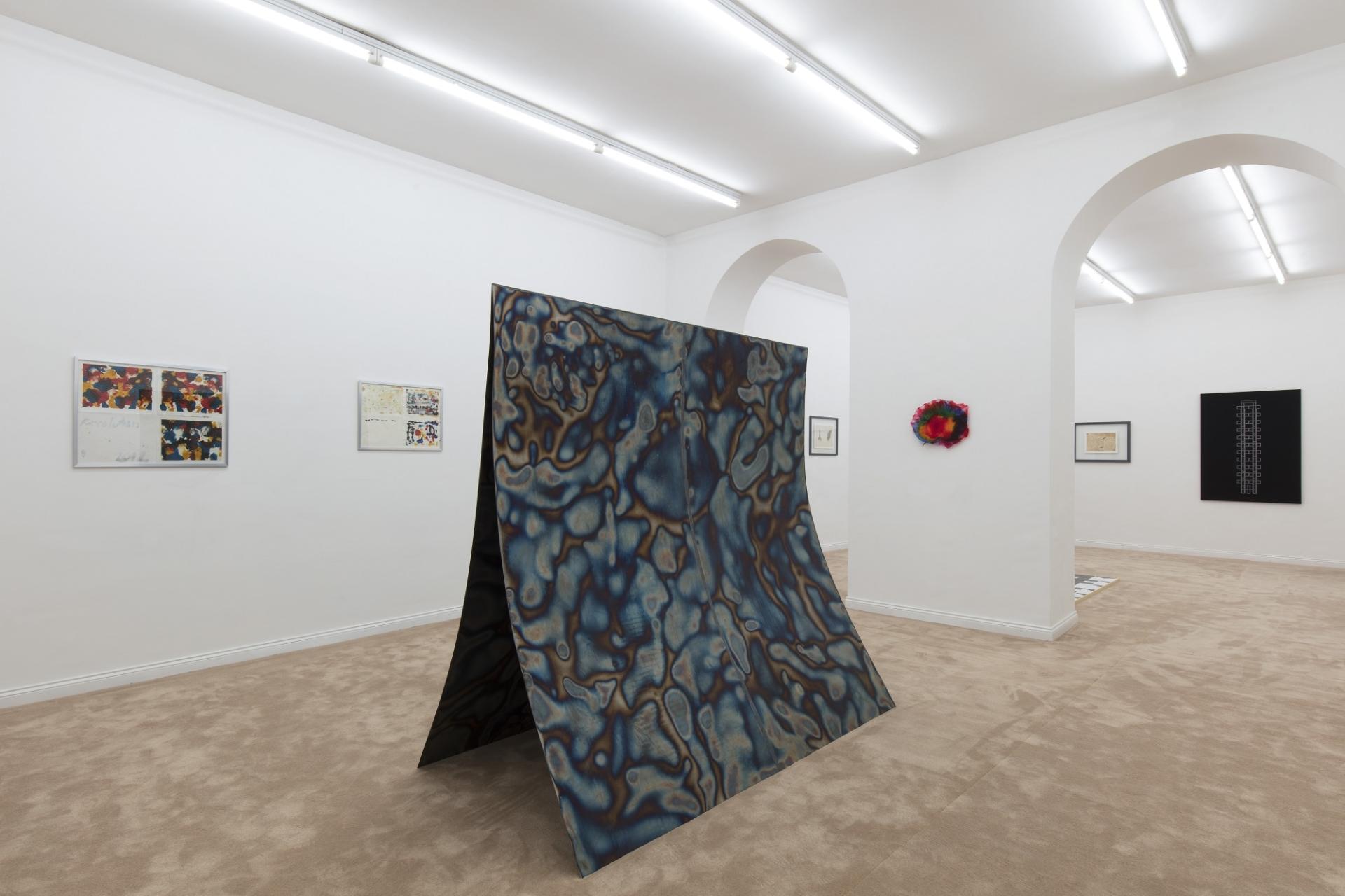 Galleria Fonti Shōzō Shimamoto in conversation with Christian Flamm, Piero Golia, Daniel Knorr, Eric Wesley 2018